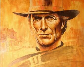 Oil Portrait Clint Eastwood