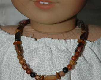 Doll, necklace, made in , american, girl, accessories, wood beads, 18 inch doll, 2