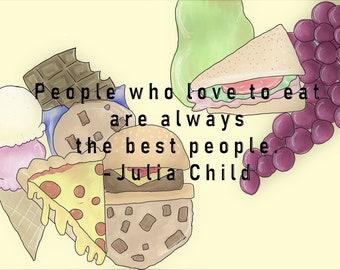 Poorly Drawn Food + Julia Child