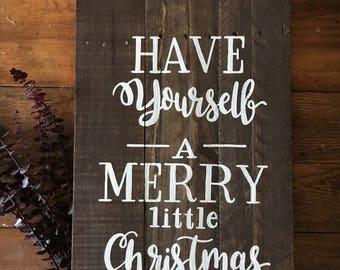Merry Little Christmas - Christmas Sign - Wood Sign - Christmas Decor - Christmas Gift - Outdoor Sign