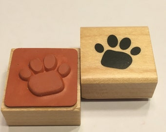 small paw print rubber stamp, 20 mm (BB4/1)