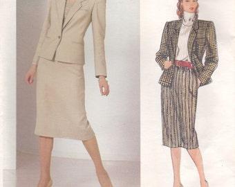 Bill Haire Suit Pattern Vogue 1190 Size 8 Uncut