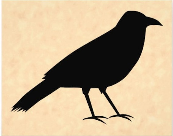 Primitive Crow Stencil Made From 4 Ply Mat Board Choose A