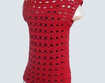 Simple Lace Summer Top ~ Crochet Pattern