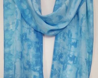 hand-dyed silk scarf