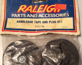 Vintage Raleigh Bicycle Bike Handlebar Tape and Plug Made in Japan
