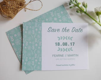 Fearne Save the Date, Modern Wedding Save the Date, Greenery, Botanicals