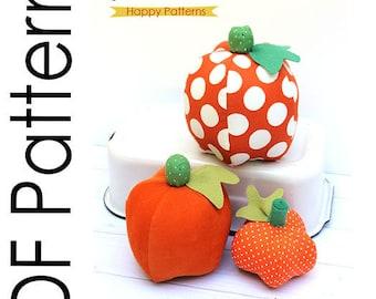 Stuffed Pumpkins PDF Sewing Pattern