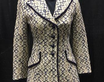 Vintage Lilli Ann 1960 Wool Blazer Medium