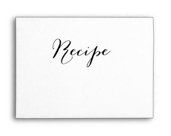 Recipe Stamp, Text Rubber Stamp, Kitchen Stamp, Wood Handle or Self Inking