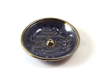 Weihrauch-Brenner Dragon Handmade Raku Keramik