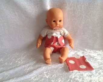 Diaper and wipe doll 30cm