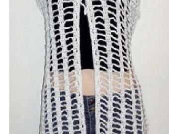 Long Butterfly Cardigan Vest Crochet Pattern pdf