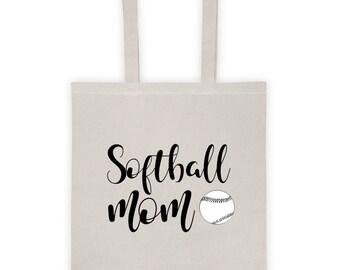 """Tote Bag """"Softball Mom"""""""
