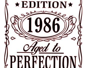 SVG File of Limited Edition (Aged to Perfection)