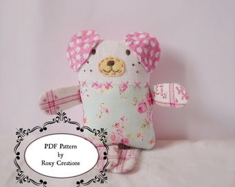 PDF sewing Pattern digital downlond sweet dog softie