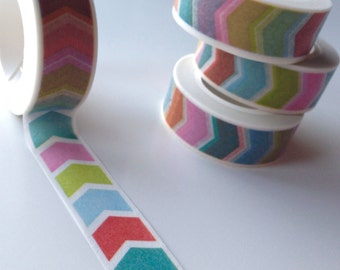 Washi tape - masking tape colorful stripes (A 982)