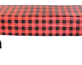 Buffalo Plaid Table Cover 54 x 108 inches, Lumberjack Party, Table cloth