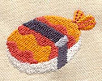 Nigiri Sushi Embroidered Flour Sack Hand/Dish Towel