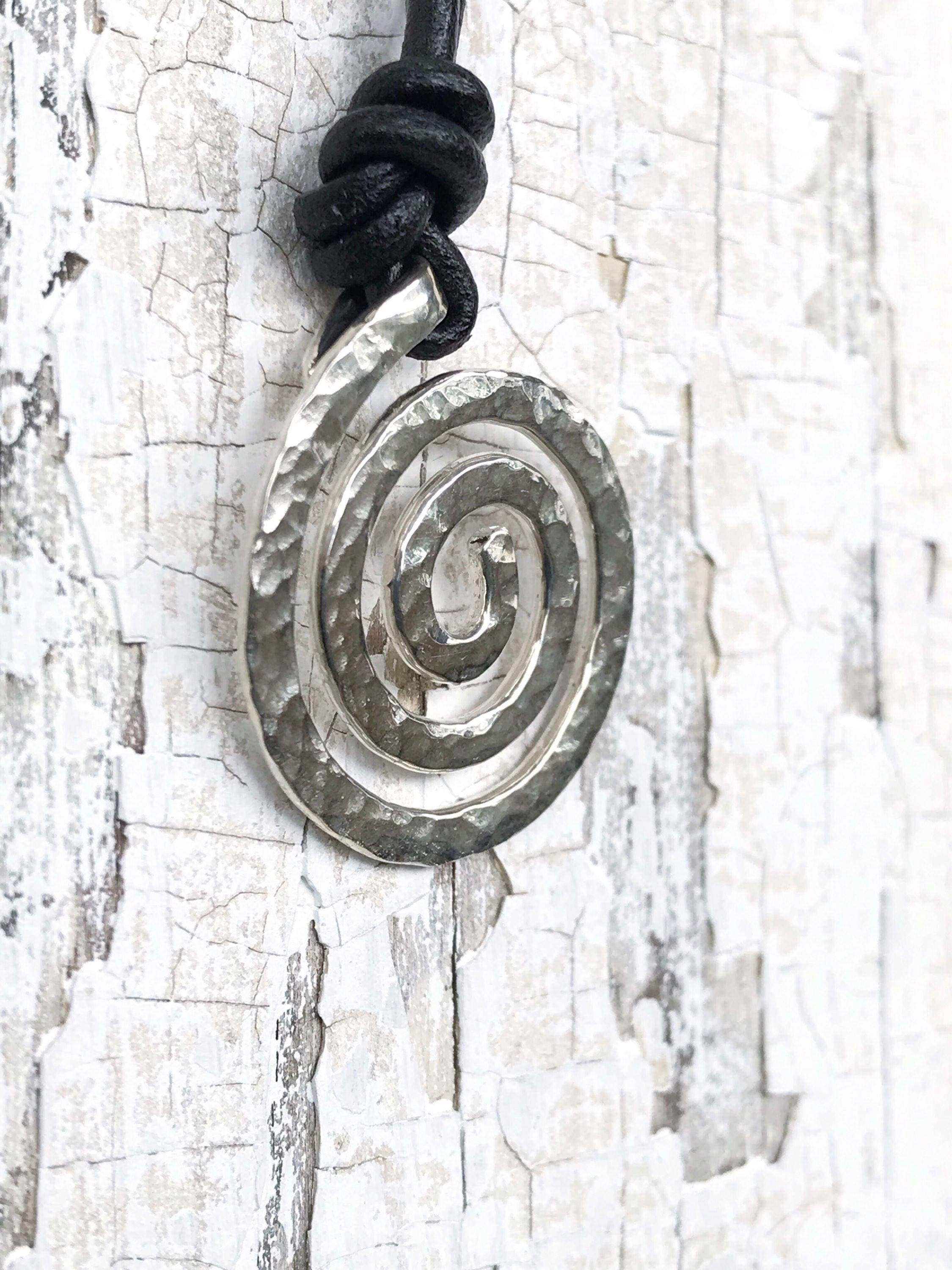 silver next x listing black koru sterling on cord felt pendant plaited necklace