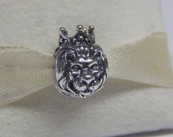 Disney LION KING Of The JUNGLE Charm / New / S925 Sterling Silver / Threaded.