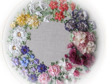 Silk Ribbon Embroidery - Beaux Rubans - Full kit