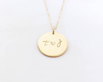 NEW Initials Classic Medallion Layering Necklace
