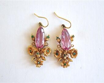 Fine Antique Georgian (c. 18th century) Drop Earrings in 18K