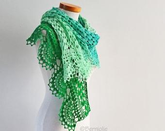 PEPPER, Crochet shawl pattern pdf