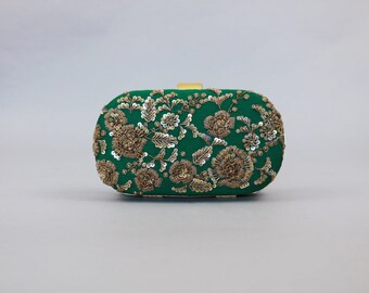 Regal Clutch Bag | Emerald Green