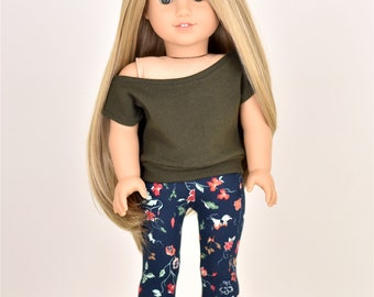 Casual  top 18 inch doll clothes Olive Green