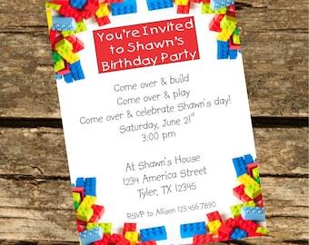 Block Party Invitation -Digital File-