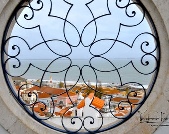 Lisbon through the Window Fine Art Photograph  8 x 12 Luster Print