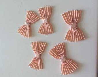 Bow tie pleated 3 * 2 cm salmon color