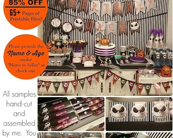 Nightmare Before Christmas Birthday Printable | Jack Skellington | Nightmare Baby Shower | Sweet 16 | Decorations |  Epic Parties by REVO