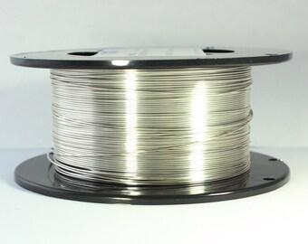 26 Dead Soft, Argentium Silver Wire, 26 gauge Wire, Dead Soft Round Wire, 935 Silver Wire