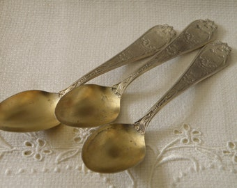 Vintage Set of Three Sterling Silver Utah Souvenir Spoons