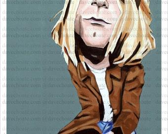 Kurt Cobain Art Photo Print