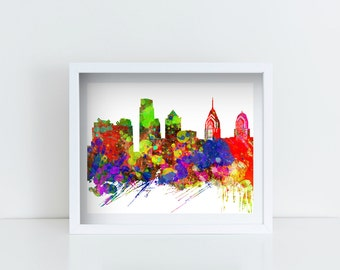 Philadelphia Skyline Printable Art, Instant Download