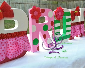 Strawberry Shortcake birthday party Strawberry Shortcake party ideas Strawberry Shortcake theme Decorated letters Designed letters Strawberr