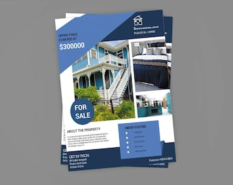 Real Estate Flyer Template , Photoshop & MS Word Template | Instate Download
