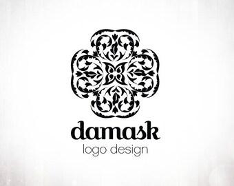 Premade Logo Design • Damask Cross