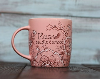 Handwriting Floral Mug Custom handwriting Personalized Gift mug for Mom Personalized coffee mugs Birthday Gifts Floral Mugs with Sayings