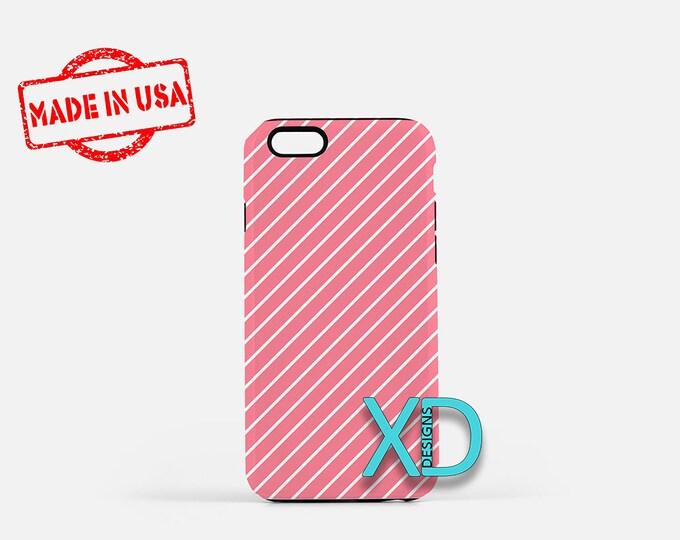 Bubble Gum Phone Case, Bubble Gum iPhone Case, Stripe iPhone 7 Case, Pink, Stripe iPhone 8 Case, Bubble Gum Tough Case, Clear Case, Lined