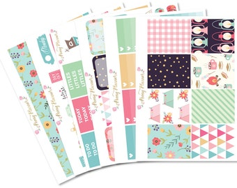 Camp Away Camping Sticker Kit for use with ERIN CONDREN LIFEPLANNER™, Happy Planner, A5, Personal, Pocket, Travelers Notebook