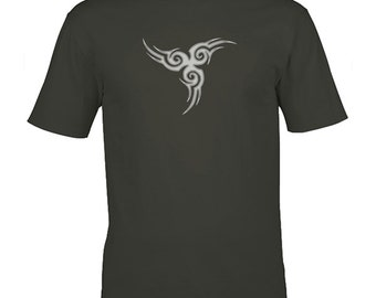 Triskele graphic tee, celtic gift, cool tshirts, mens tshirt, gift for men, festival clothing, tribal tattoo, celtic triskelion, uk sellers