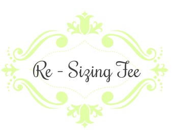 Custom Ring Re-Sizing Fee & Re-shipping fee, Re-Sizing and re-shipping for rings