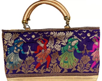 HandCrafted Silk Embroidery Partywear Clutch