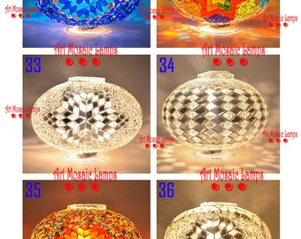 Choose Any Hand Made Mosaic Globe For Your Lamp