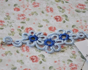 Blue Flower Bracelet | Handmade Jewelry | Flower Bracelet | Bracelet | Handmade Bracelet | Lace Jewelry | Lace Bracelet | Gift | Handmade